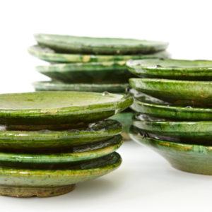 grüne Keramik Teller - Marokko-0