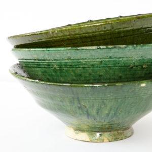 grüne Keramik große Servierschale - Marokko-0