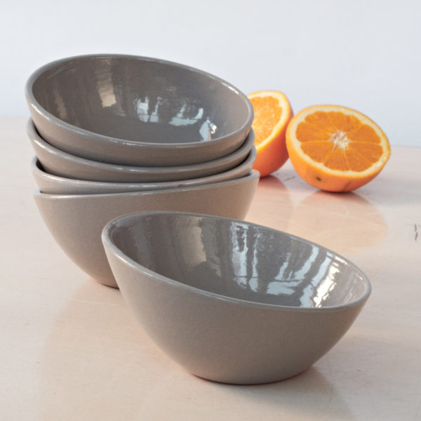 Schale Keramik - schräger Rand-0
