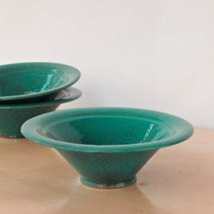 tulpenförmige Servierschale Keramik-2261