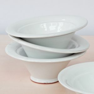 tulpenförmige Servierschale Keramik-2266