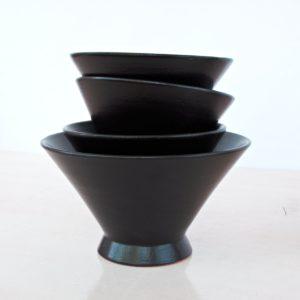 trichterförmige Keramik Schale-2032