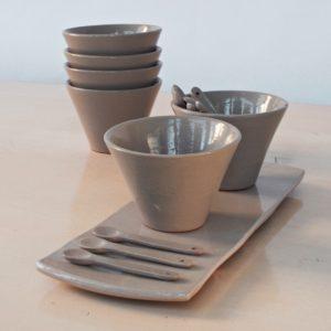 Servierplatte Keramik - länglich-2126