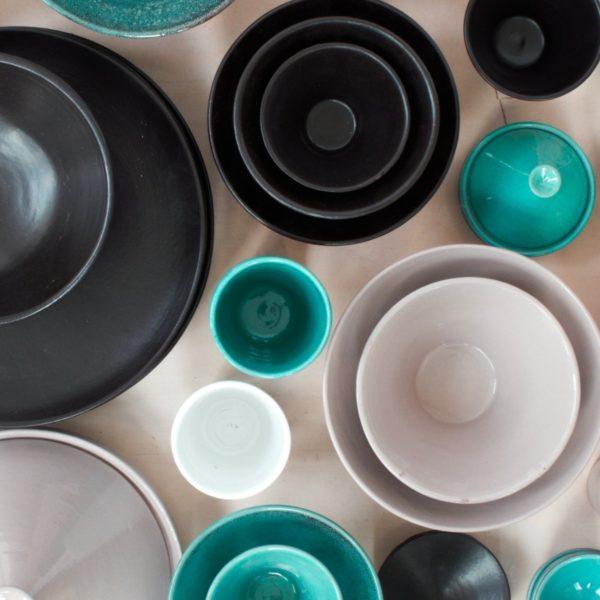 trichterförmige Keramik Schale-0