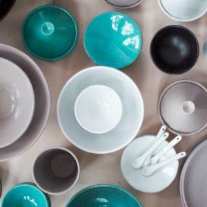 Schälchen Keramik - flach-2143