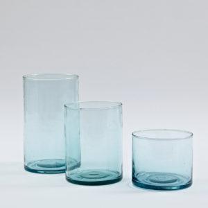 Vase in verschiedenen Größen aus mundgeblasenem Glas-0