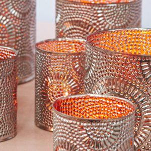 dekorative silber metall Teelichthalter - Marokko-2629