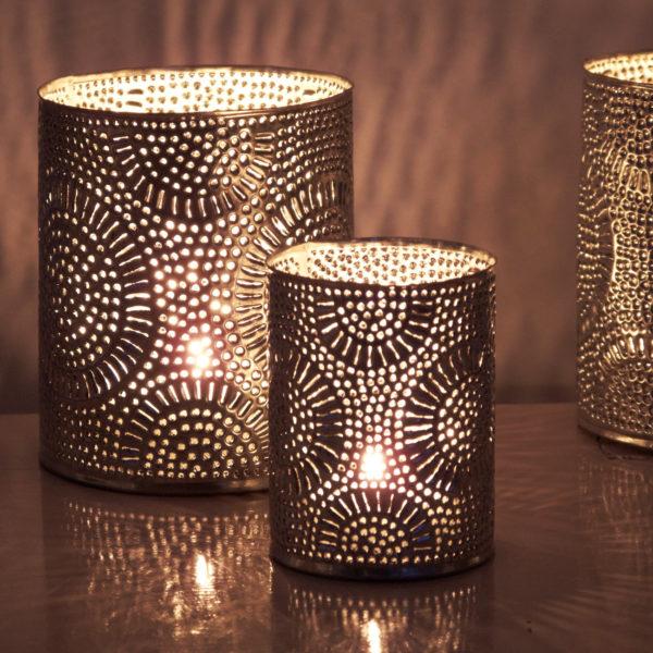 dekorative silber metall Teelichthalter - Marokko-0