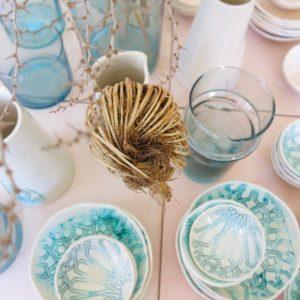 handgemachter Keramik Teller mit marokkanischem Fliesen-Muster-2445