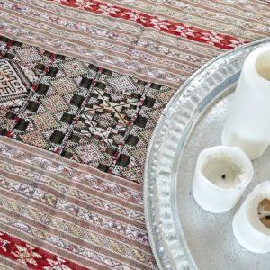 Kelim Teppich mit Seide - Marokko-3148