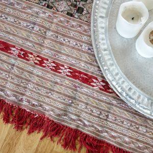 Kelim Teppich mit Seide - Marokko-3149