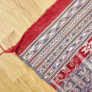 Kelim Teppich mit Seide - Marokko-3150