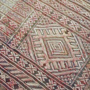 Kelim Teppich creme-rot pastell - Marokko-3057