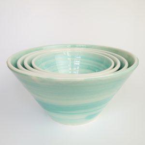Keramikschale konische Form - türkis-3622