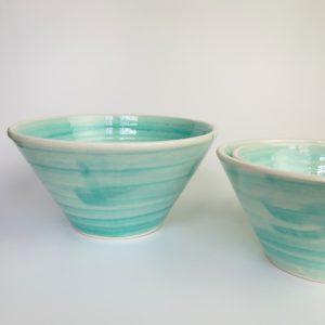 Keramikschale konische Form - türkis-3628