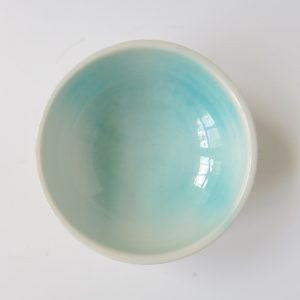 Handbemaltes Keramikschälchen - türkis-4438
