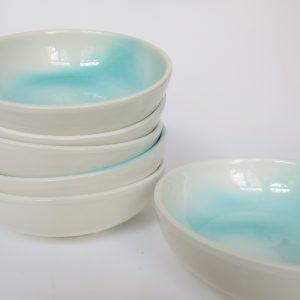 Keramikschale handbemalt - türkis-4440