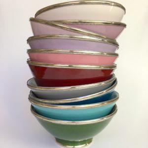 Marokkanische Keramik - Schale mit Silberrand-0
