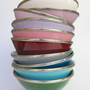 Marokkanische Keramik - Schale mit Silberrand-3926