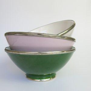 Marokkanische Keramik - Schale mit Silberrand-3922
