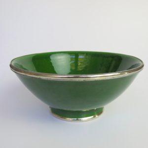 Marokkanische Keramik - Schale mit Silberrand-3923