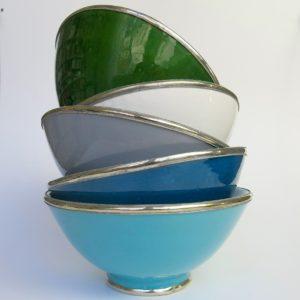 Marokkanische Keramik - Schale mit Silberrand-3925