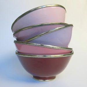 Marokkanische Keramik - Schale mit Silberrand-3927