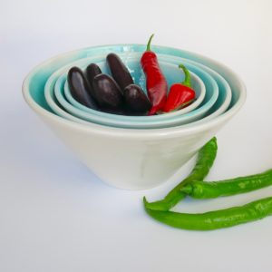Keramikschale Mallorca - konische Form-3845