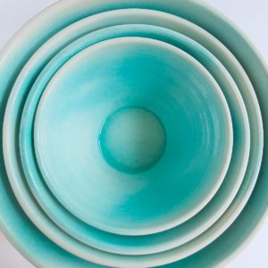 Keramikschale Mallorca - konische Form-3846