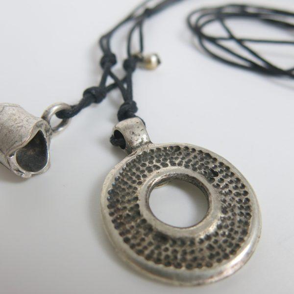 Kette mit rundem Berber Silber-Anhänger-0