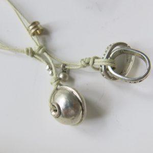Kette mit Berber Silberperle und ovalem Silber-Ring-2800