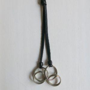 Kette mit 'vintage Berber Silberringen'-1640