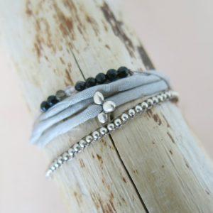 feines Armband 'Achat' Steinchen-2503