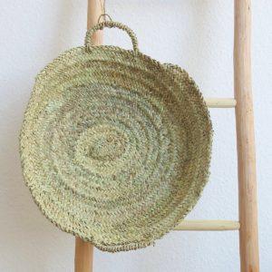 handgemachter Korb flach natur-1425