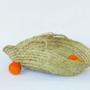 handgemachter Korb flach natur-1424