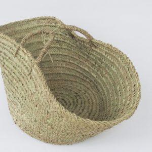 handgemachter Korb 'Ibiza look' - Palmblatt natur geflochten-4265