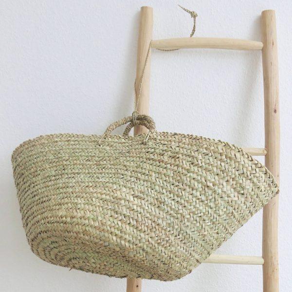 handgemachter Korb 'Ibiza look' - Palmblatt natur geflochten-0