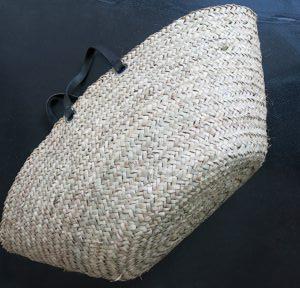handgemachter Korb mit Ledergriff-4249