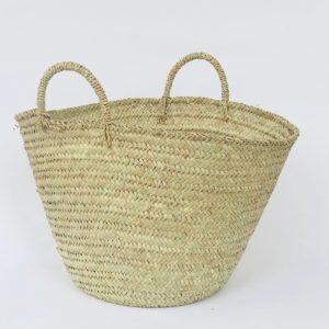 handgemachter Korb 'Ibiza look' - Palmblatt natur geflochten-4268