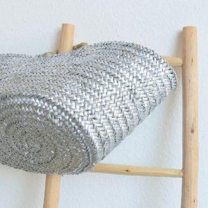 handgemachter Korb 'metallic Effect' - Palmblatt geflochten-1397