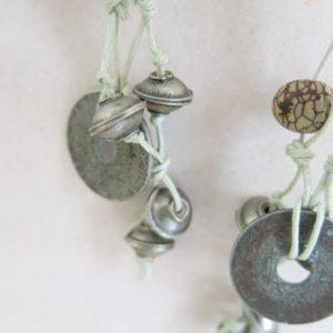Unikat-Kette mit alter Münze und Berber Silberperlen-2773