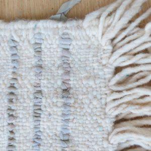 handgeknüpfter Lederfransen Teppich - Marokko-2622