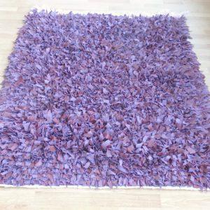 handgeknüpfter Lederfransen Teppich - Marokko-2627