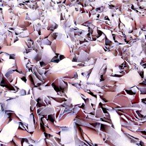 handgeknüpfter Lederfransen Teppich - Marokko-2624