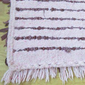 handgeknüpfter Lederfransen Teppich - Marokko-2626