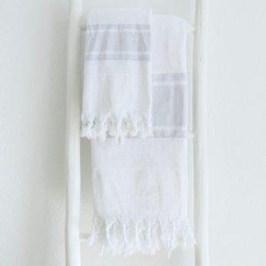 Badetuch und Handtuch leichter Baumwoll-Frottee Qualität-4272