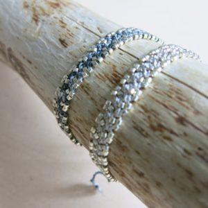 Häkel-Armband mit metallic Effekt-829