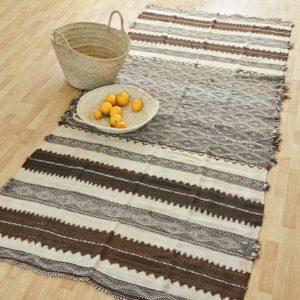 marokkanischer Teppich 'Sanafi' - braun-natur-3294