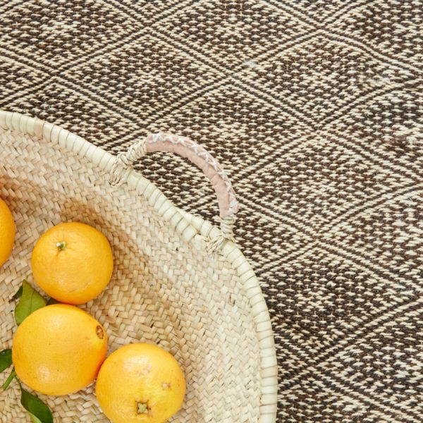 marokkanischer Teppich 'Sanafi' - braun-natur-0