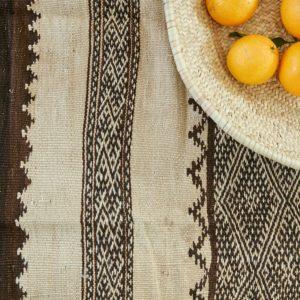 marokkanischer Teppich 'Sanafi' - braun-natur-3296